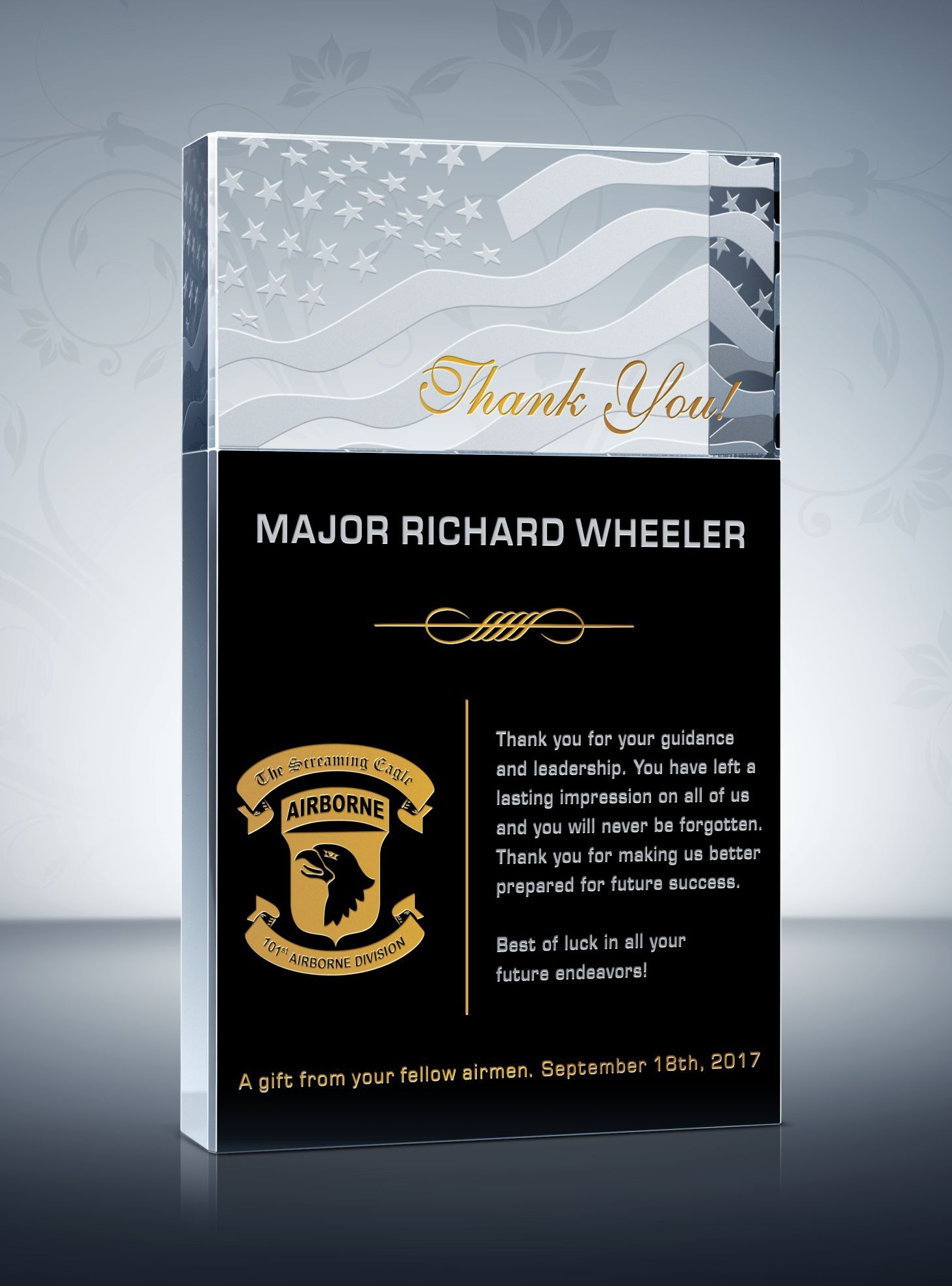 Thank You Military Plaques And Appreciation Quotes Military Retirement Gift Plaque Thank You Gifts