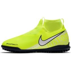 Photo of Nike Jr. Phantom Vision Academy Dynamic Fit Junior / Older Kids' Turf Football Shoe – Yellow N