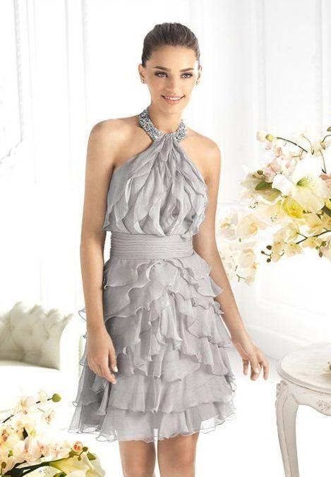 b5884f1826b Chiffon  Halter A-Line Short Cocktail  Dress Prom Dress 2013