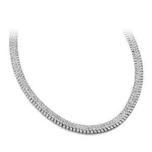 Diamant Collier 20.00 Carat Diamanten SI1-SI2 -Weißgold 585er