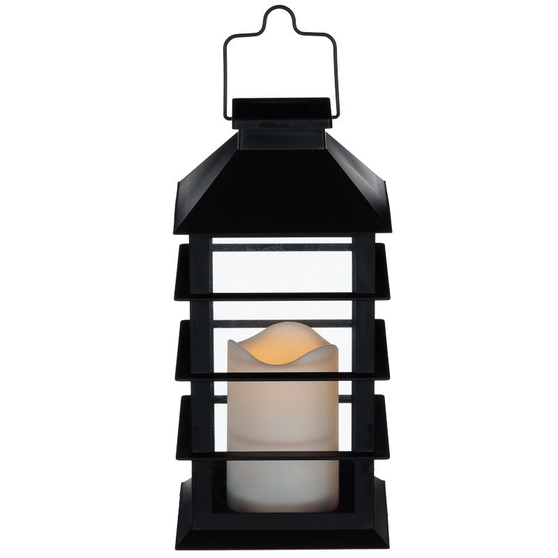 Outside Lights At B M: Solar Powered Lantern With Candle
