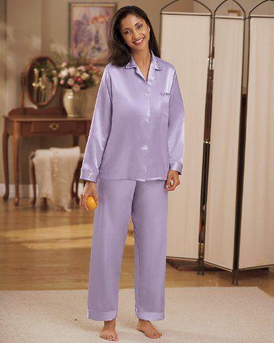 National Brushed Back Satin Pajamas 2995 Sleepwear Pinterest