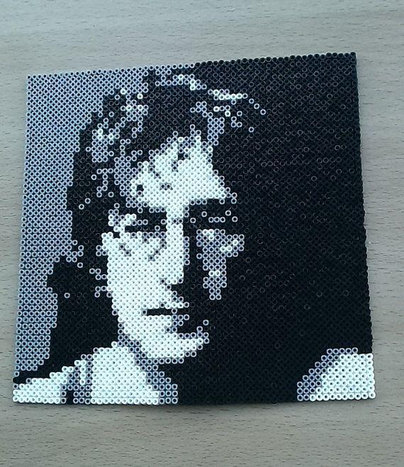 John Lennon Portrait Bead Art. 20th Century by PixelBeadPictures