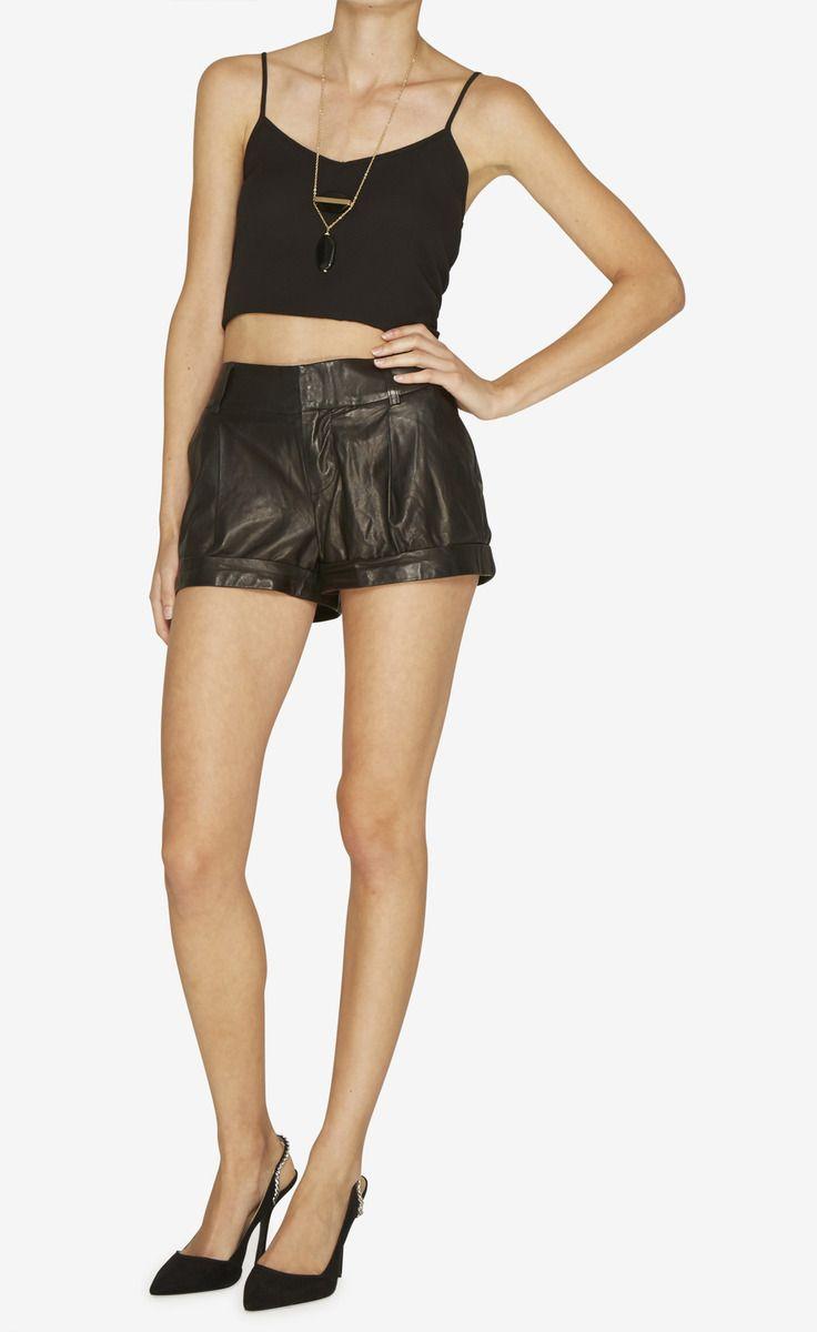 Black Shorts | Alice + Olivia