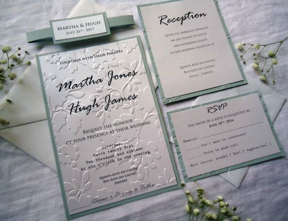 This sample is a Grey Embossed Wedding Invitation Is very Elegant - best of wedding invitation samples text