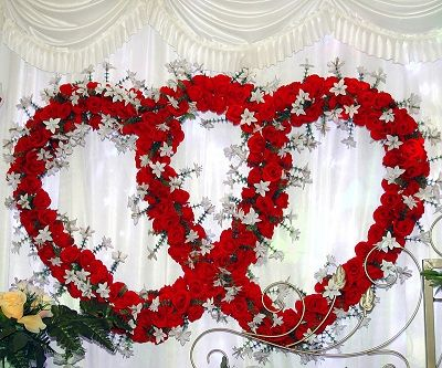 Heart wedding decorations for reception valentine Valentine stage decorations