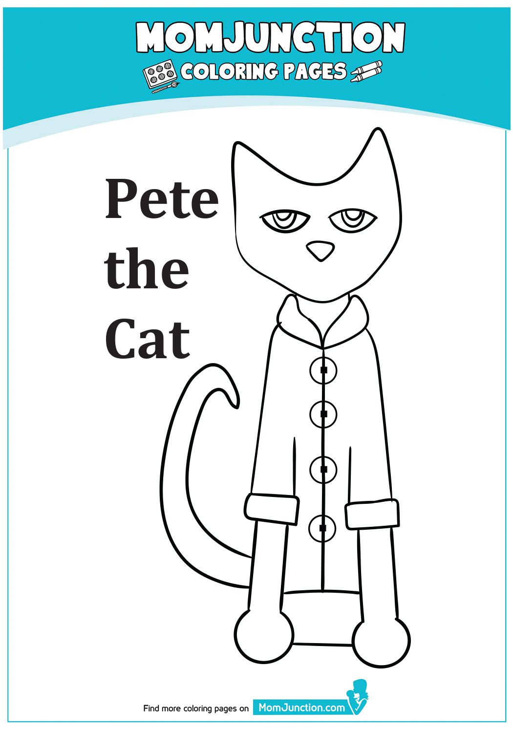 The Guess Pete S Groovy Buttons Coloring Page In 2021 Coloring Pages Pete The Cat Abc Story