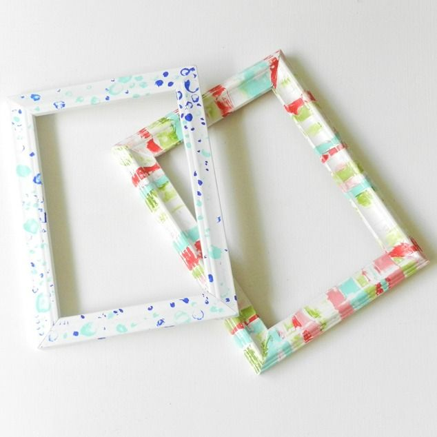 A #shabbychic #DIY for unique frames. Use white ones http://www ...
