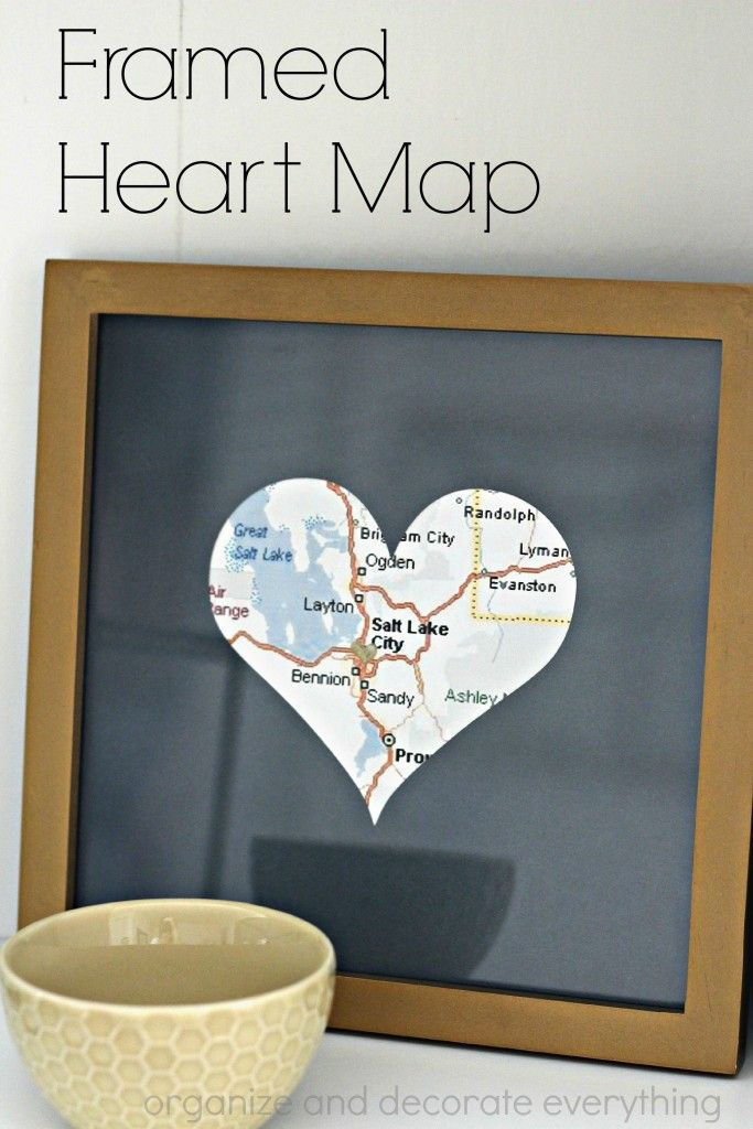 Framed Heart Map | Heart map, Met and Craft