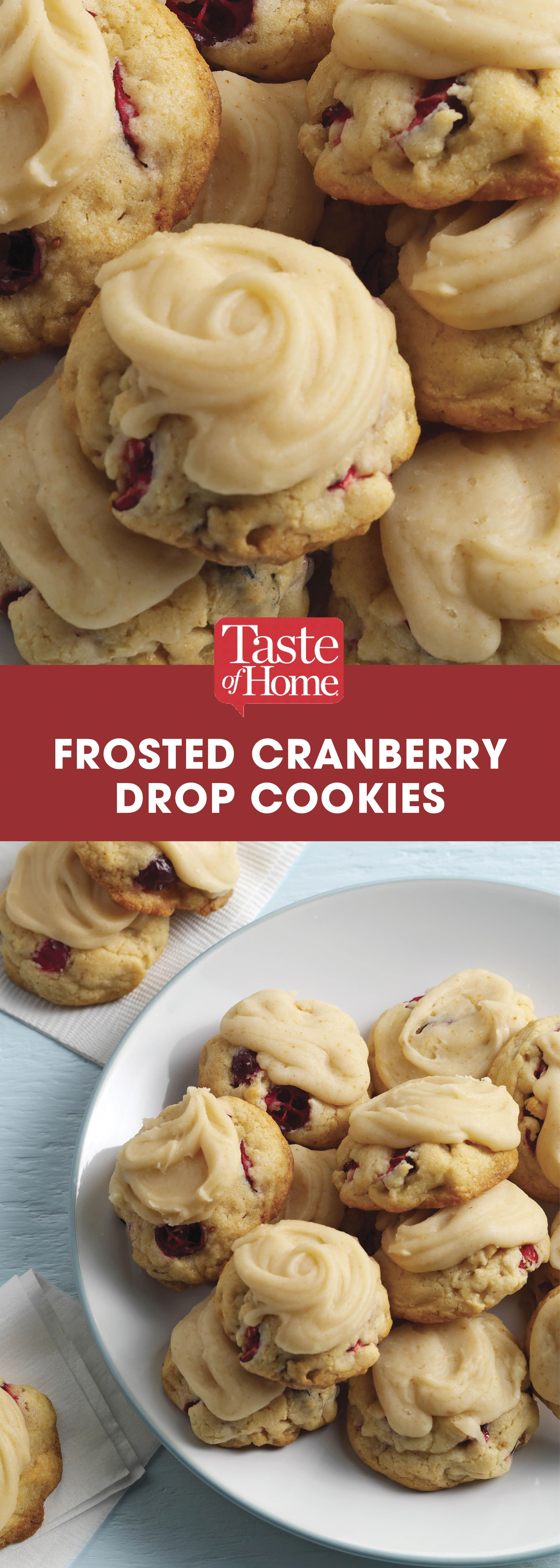 Frosted Cranberry Drop Cookies cookiesthanksgiving in