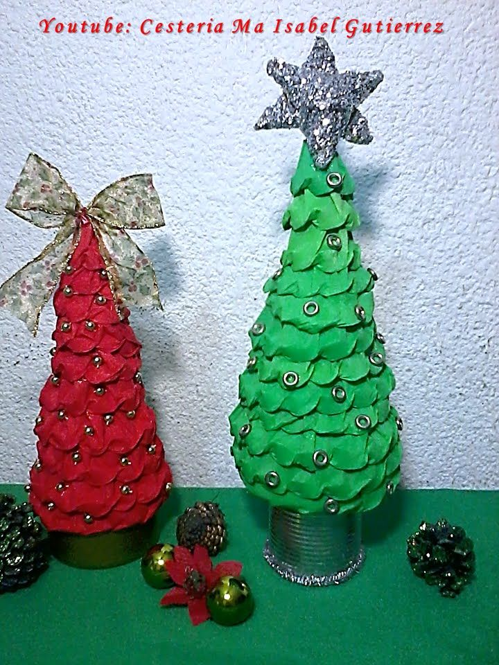 Pinos navide os de papel diy how to make paper christmas - Pinos pequenos ...