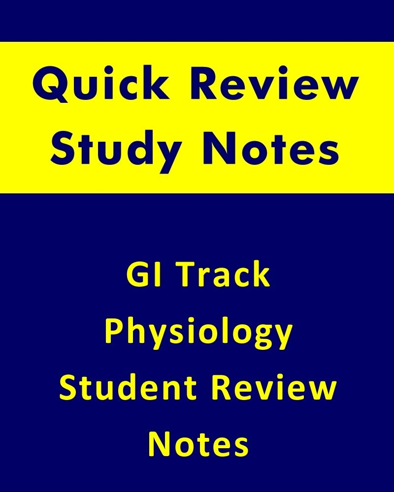 GI Track Physiology Quick Review Notes (Student Study Notes) | Study ...