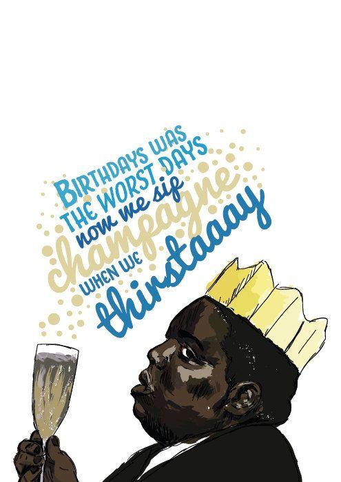 Notorious Big Birthday Card Juicy Hip Hop Rap Cards Diy
