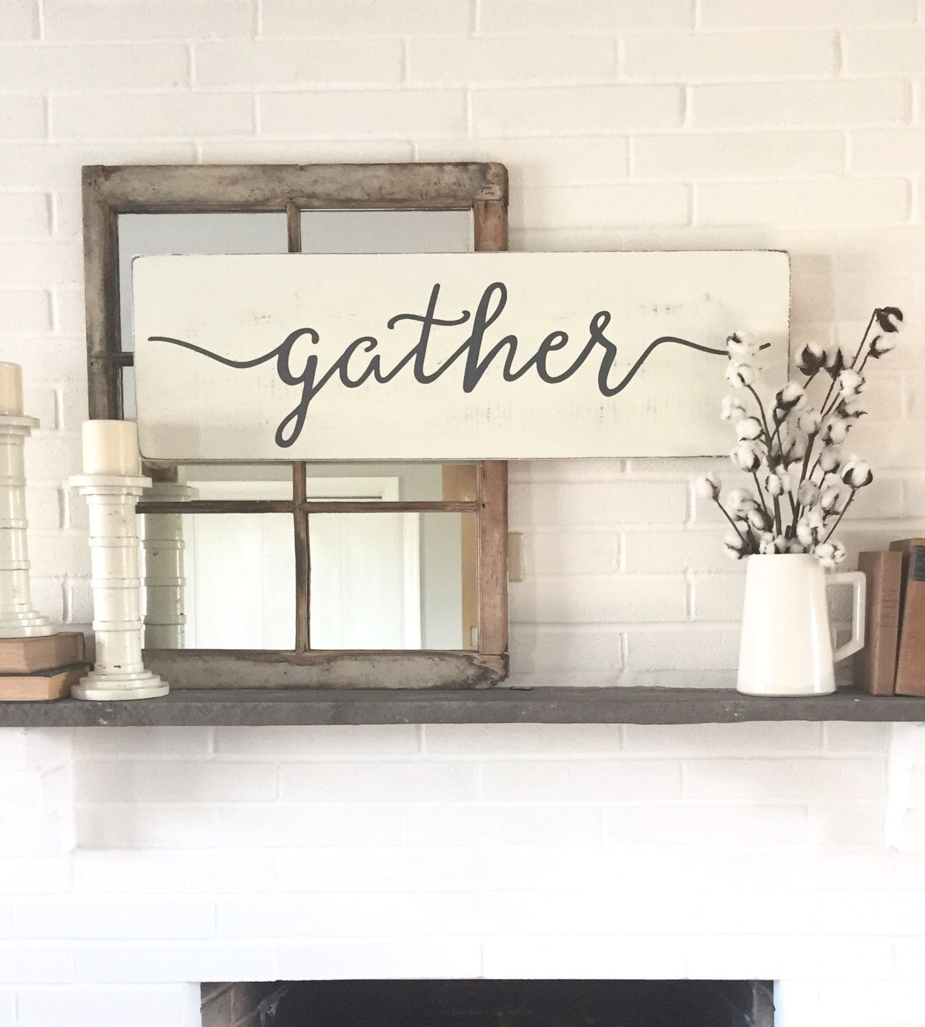 Rustic wall decor for bedroom - Gather Wood Sign Rustic Wall Decor Wall Decor Gather Sign Wood Signs