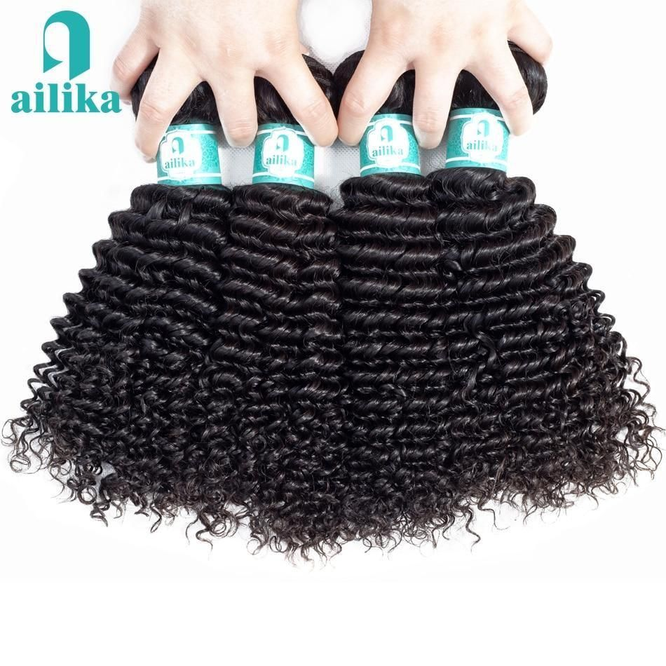 Photo of Hair Mongolian Kinky Curly Hair 1/3/4 Bundles Human Hair …