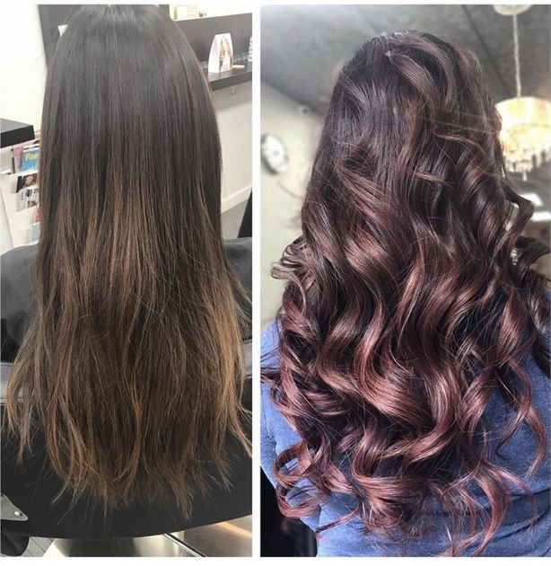 Makeover Faded To Dusty Purple Curly Hair Styles Naturally Curly Hair Trends Dusty Rose Hair