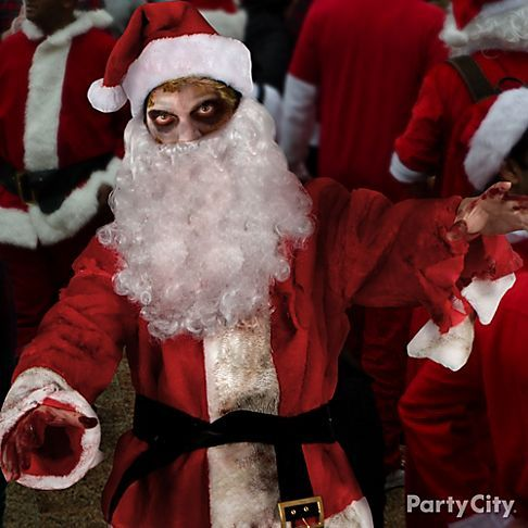 Christmas Zombie Costume.Zombie Santa S Coming To Town In His Slay Of Reindeer