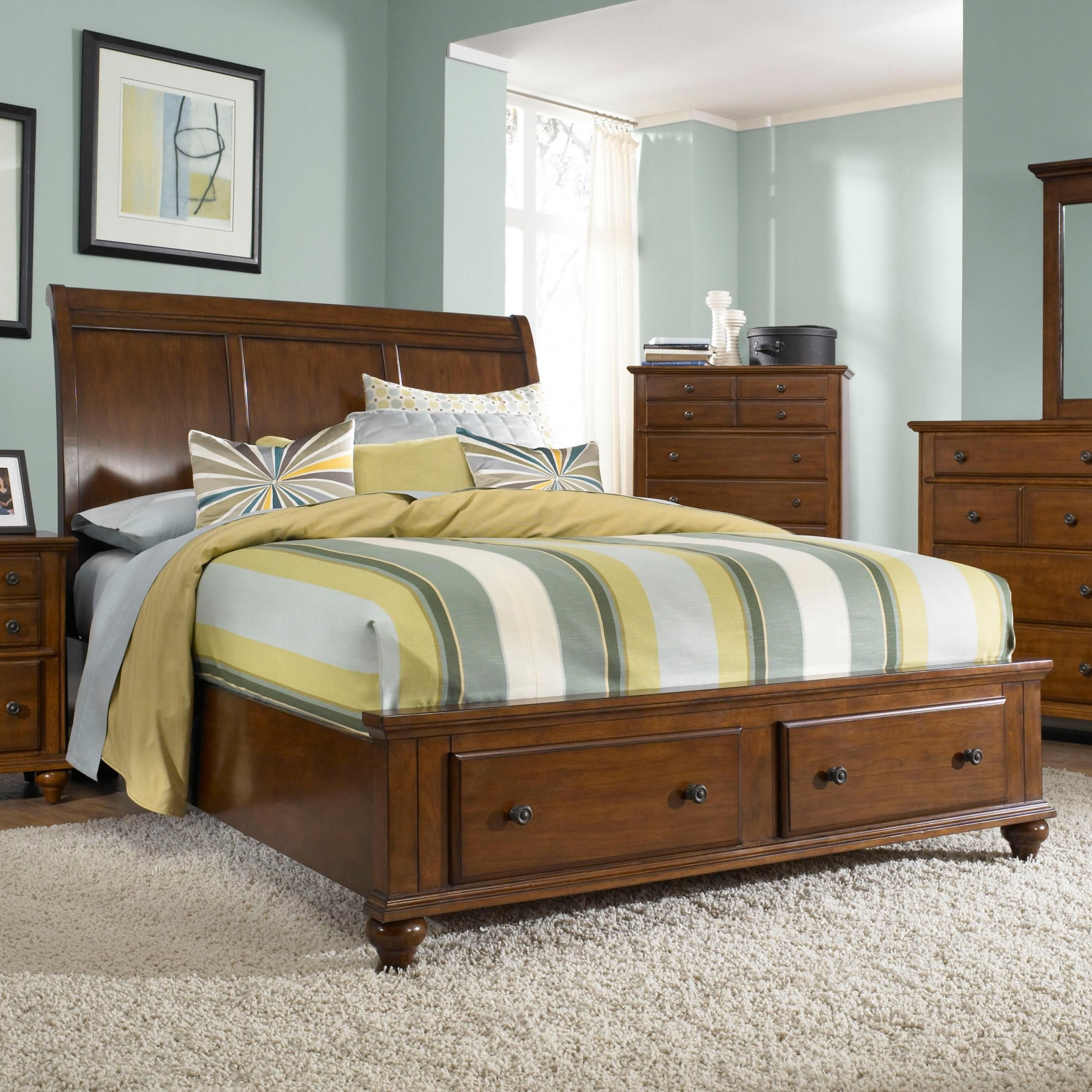 Hayden Place King Sleigh Bed With Storage Footboard By Broyhill Furniture Broyhill Furniture