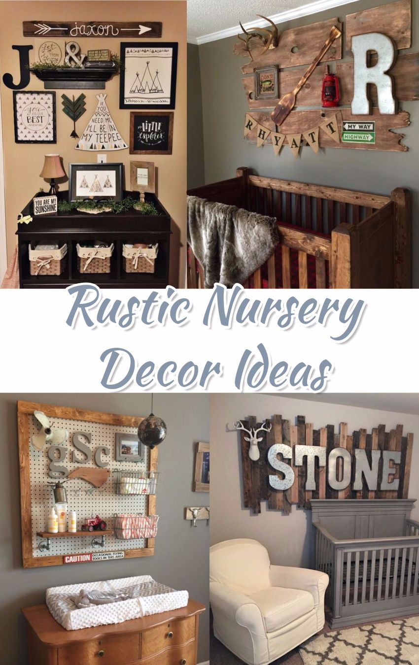 Baby Nurseries 2019 Rustic Baby Nursery Ideas! Love ALL these Baby Room Ideas!