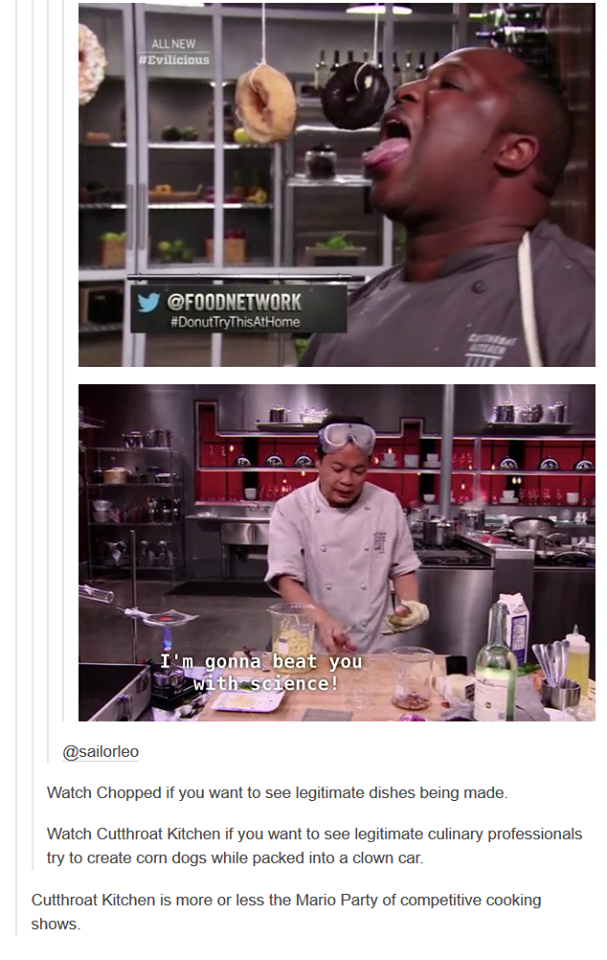 Cutthroat Kitchen Chopped True Comic Sitios
