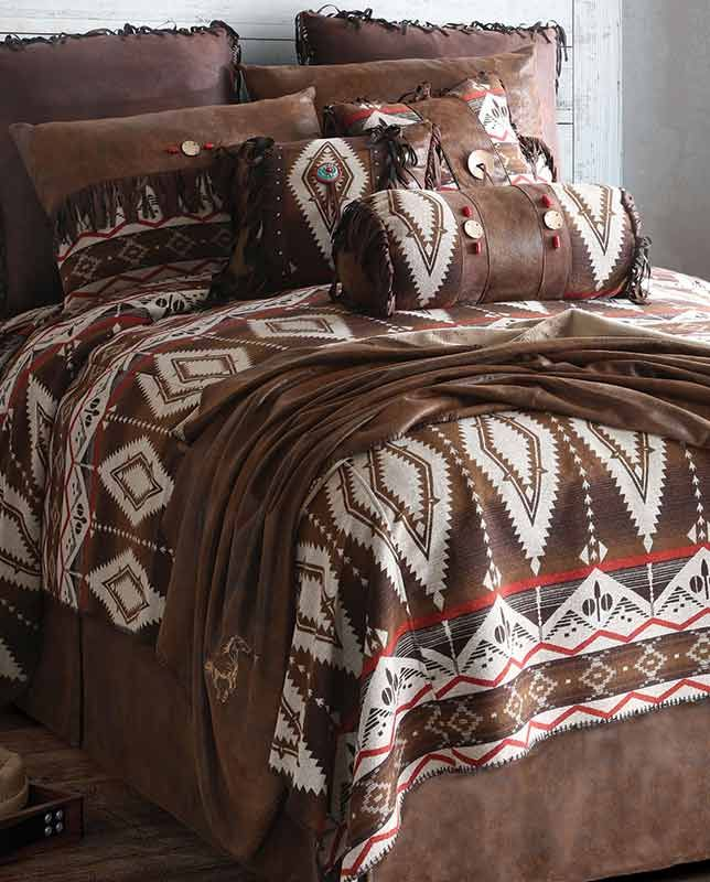 Pecos Trail Queen Comforter Bedding Set Southwestern Style Housewares Rustic Western Native