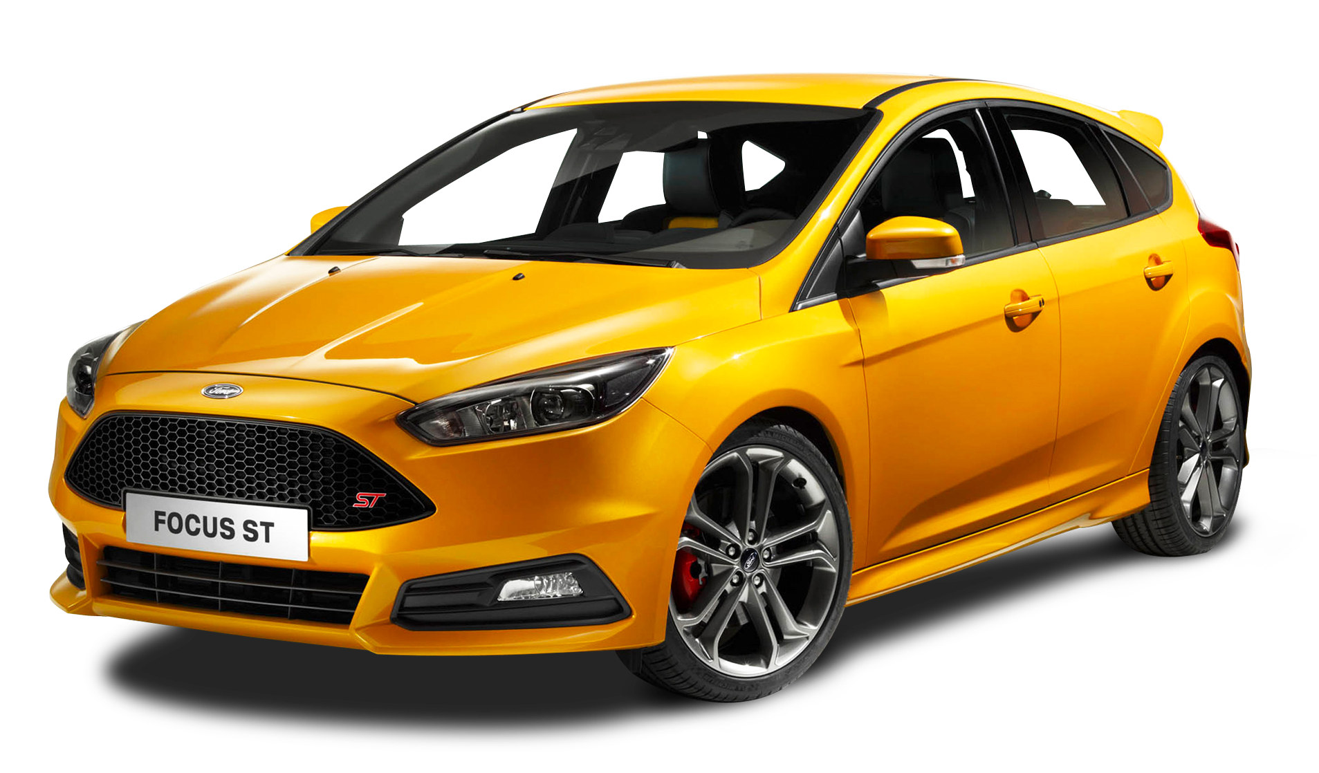 Ford Focus St Yellow Car Png Image Ford Focus Ford Focus St Ford