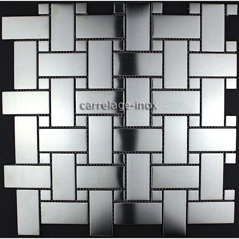 Carrelage Inox Credence Cuisine Mosaique Sonate Staal Roestvrij Staal Vloeren