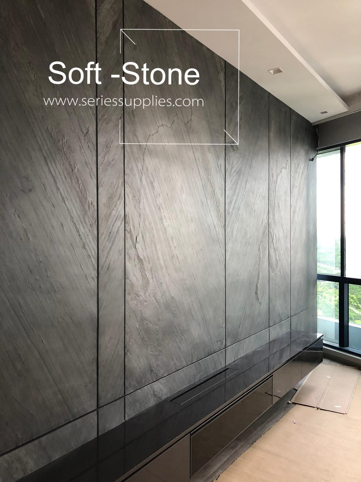 Grey Stone Tv Feature Wall Stone Wall Design Tv Feature Wall Interior Wall Design