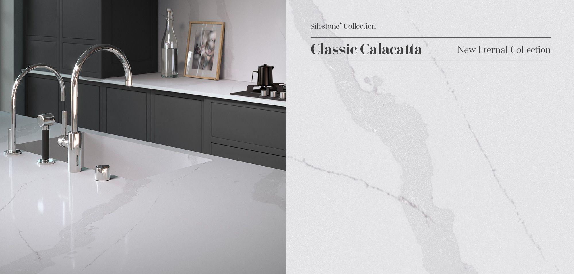Elegant and subtle Silestone Classic Calacatta reinterprets