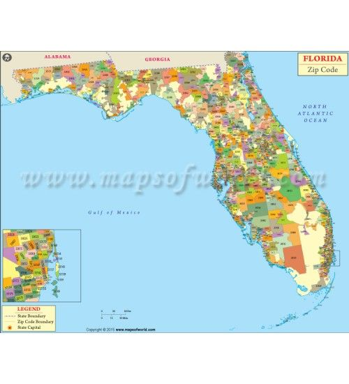 Zip Code Map Of Florida.Buy Florida Zip Code Map In Digital Format You Can Customized This