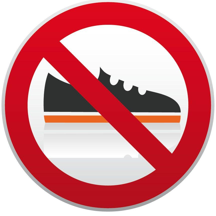 panneau de signalisation chaussures interdites enfant education pinterest panneau de. Black Bedroom Furniture Sets. Home Design Ideas