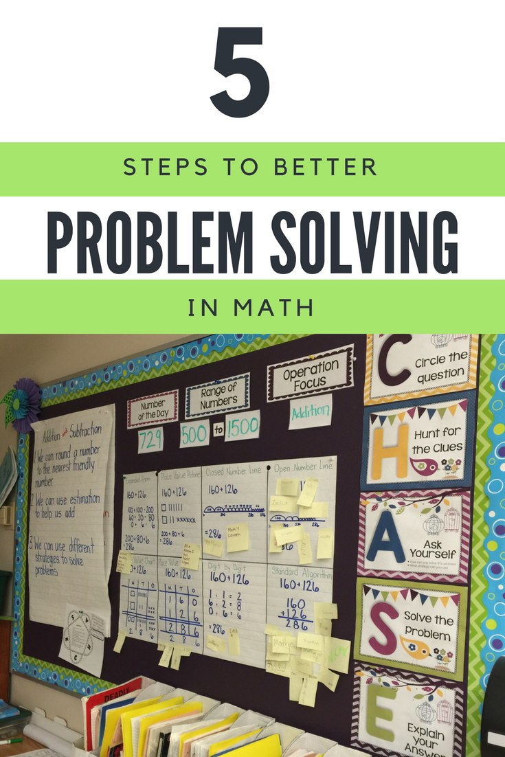 C.H.A.S.E. - Math Problem Solving Strategy | Word problems, Math and ...