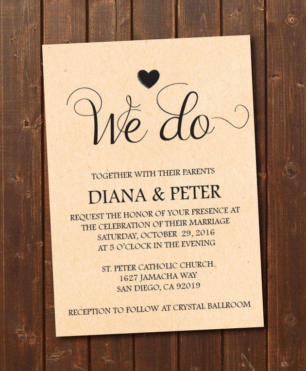 We Do Wedding Invitation Printable TemplateVintageECard