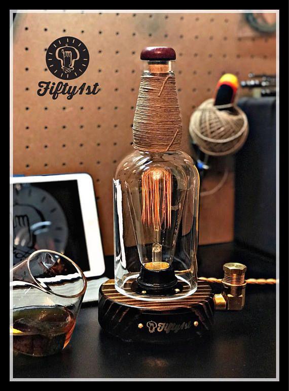 Rustic Desk Lamp Forester Reclaimed Wood Light Industrail Table Lamp Touch Dimmer Lampes Bouteille Bureau Rustique Et Luminaire Bois