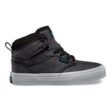 a96f9f098f8 Shop Boy s Shoes at Vans today! Kids Atwood Hi Black White