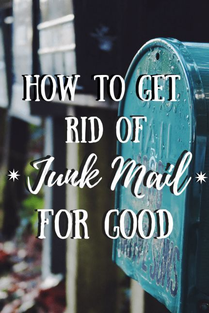 How to Get Rid of Junk Mail For Good Junk mail, Zero waste and DIY