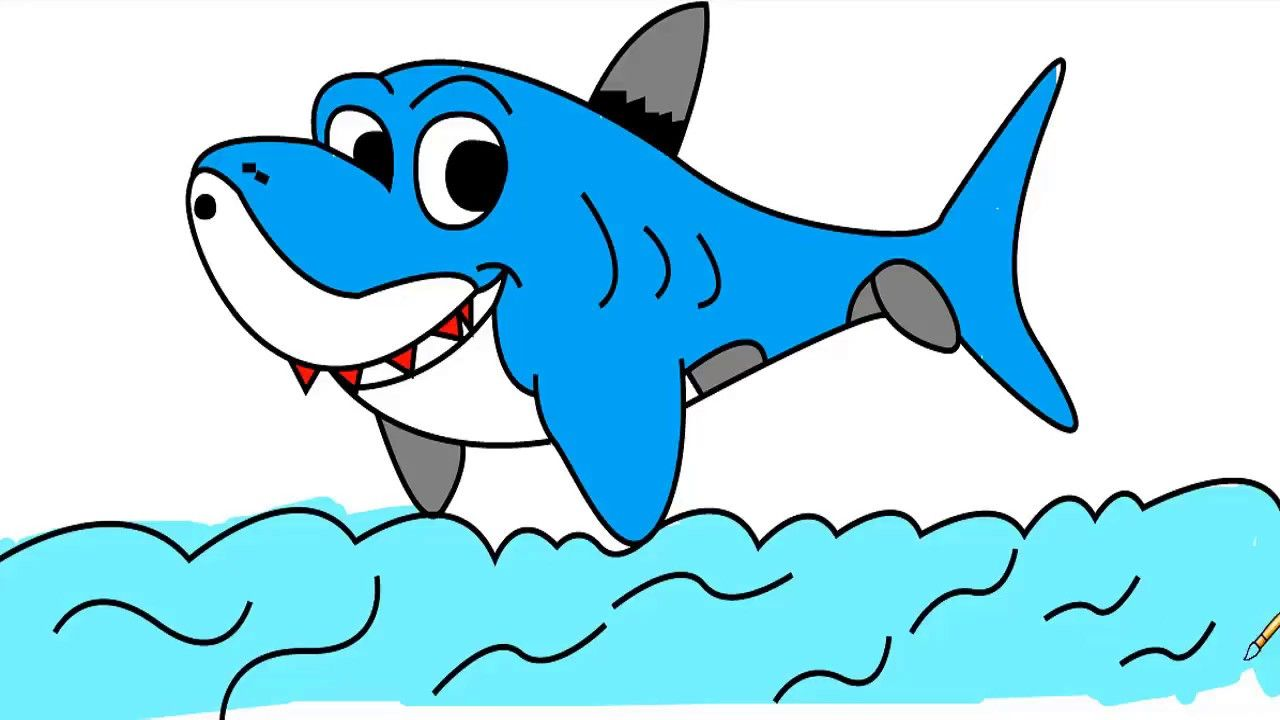 How To Draw Shark For Kids How To Draw A Hammerhead Shark