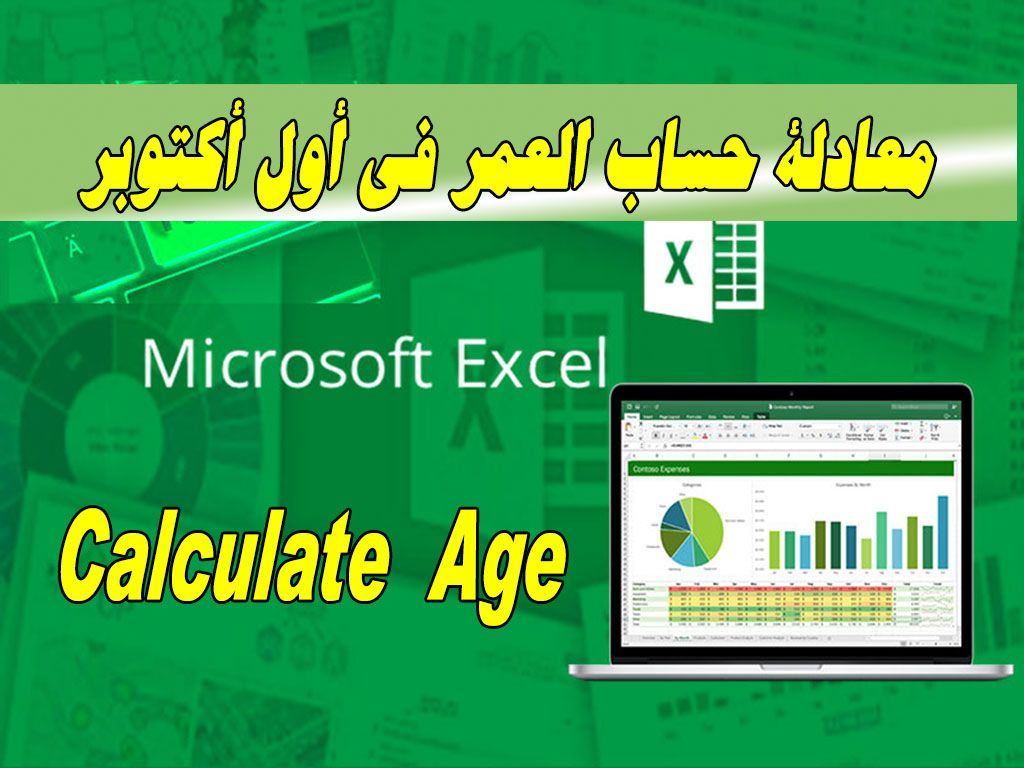 Calculate Age معادلة حساب العمر في أول أكتوبر Powerpoint Word Learning Educational Materials