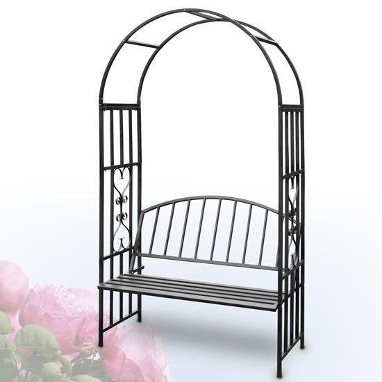 Garden Arch Bench Metal Trellis Rose Archway Wedding Flower Climbing Plant  7ft In Garden U0026 Patio