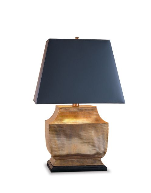 Large Hammered Brass Table Lamp For