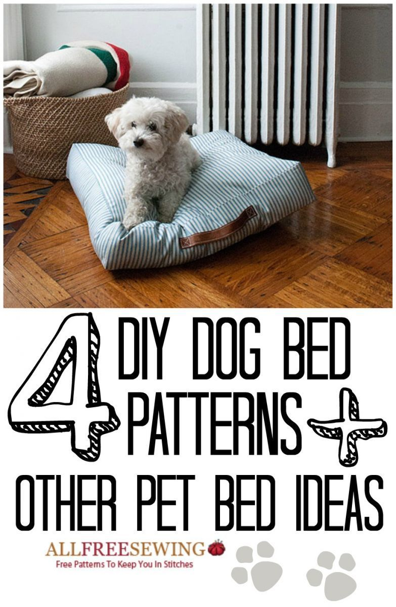 10 Free Dog Bed Patterns (Printable Patterns & More) Diy