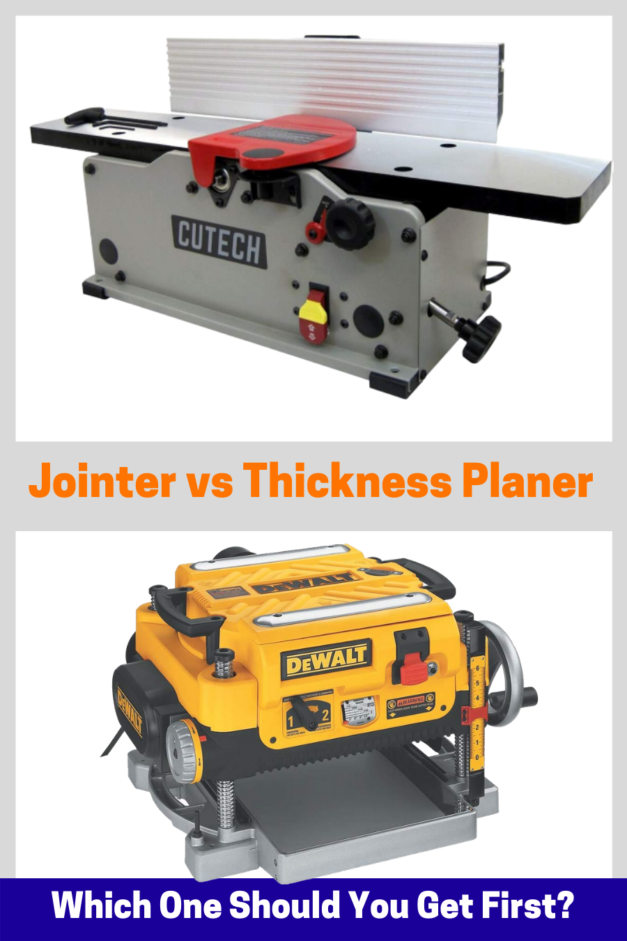 Jointer Or Planer Which Tool Should You Get First Planer Woodworking Power Tools Get One