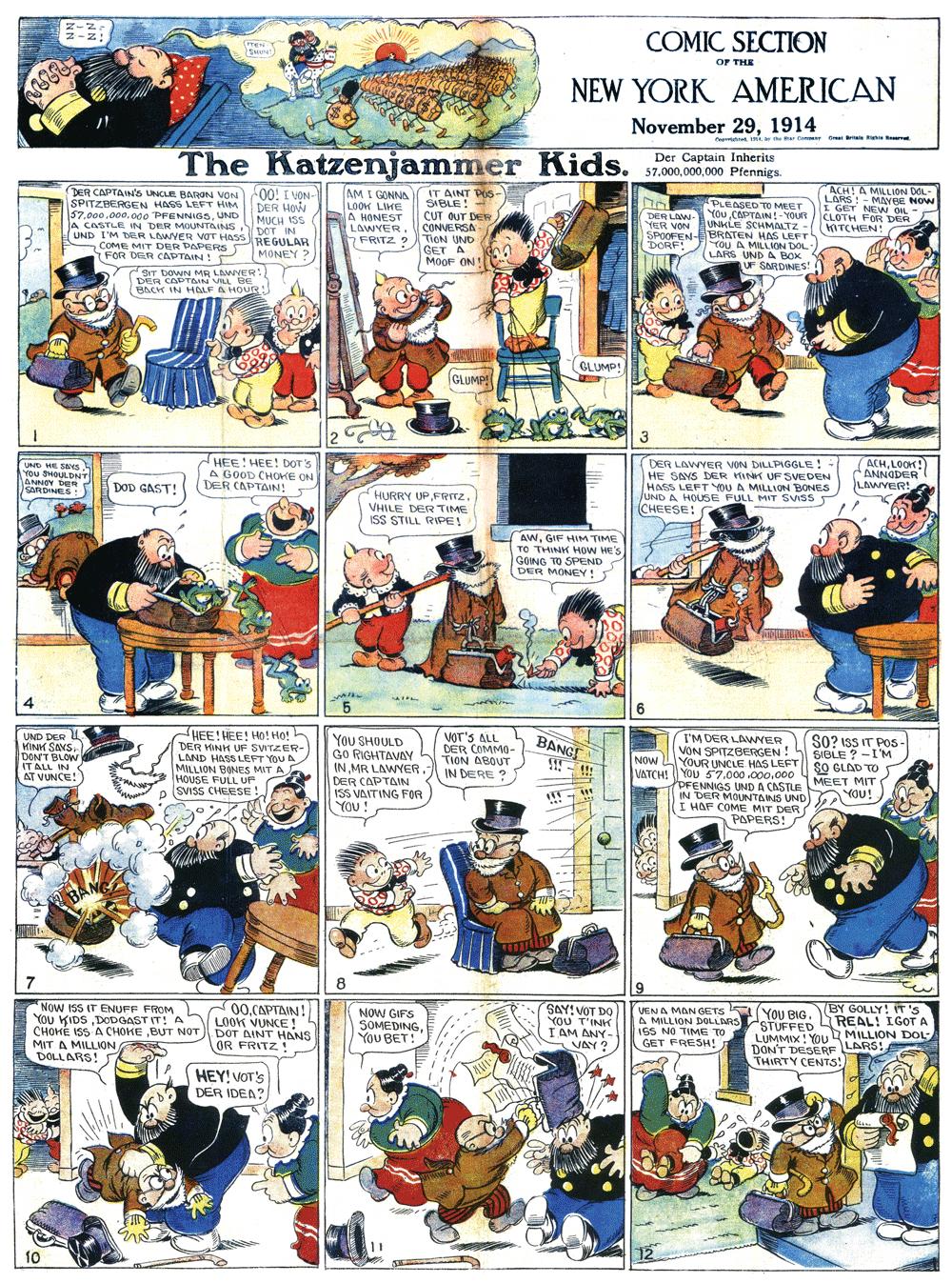 "The Captain /""Katzenjammer Kids/"" Comic Figure"