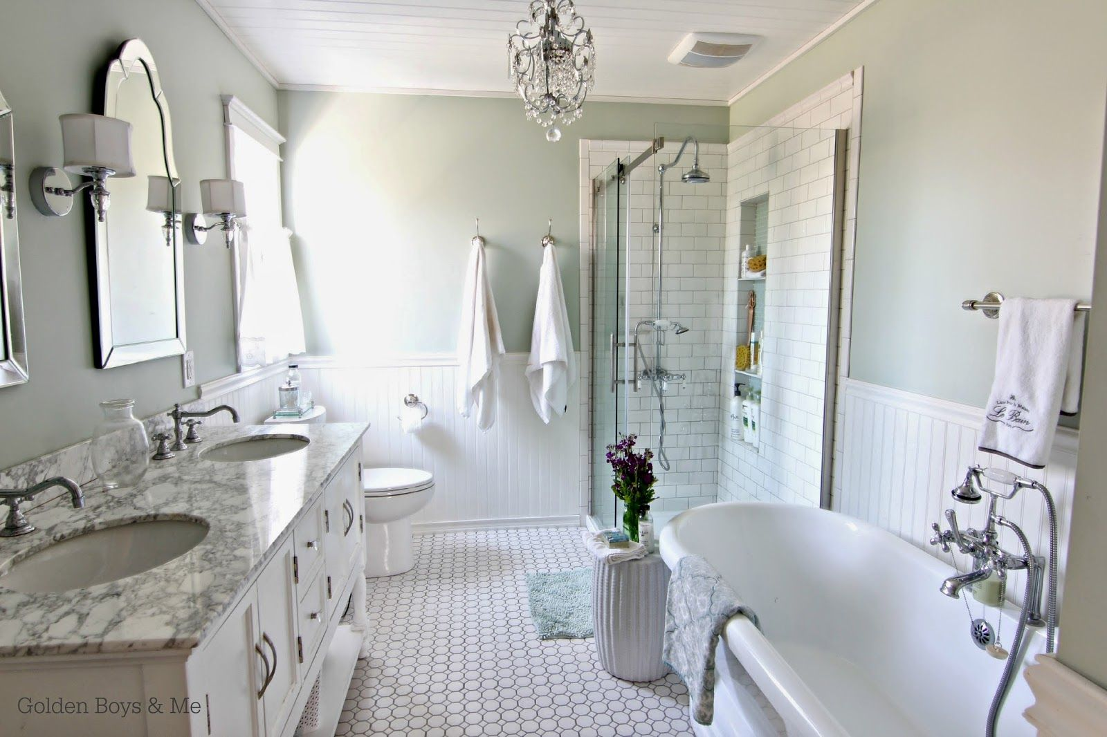 Shower Niche Tutorial | Freestanding tub, White subway tiles and ...