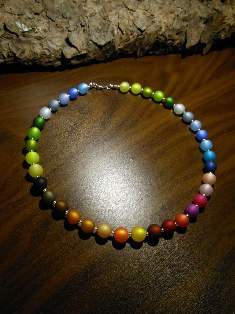 details zu soho kette halskette collier kette regenbogen kristalle bunt rainbow kunterbunt in. Black Bedroom Furniture Sets. Home Design Ideas