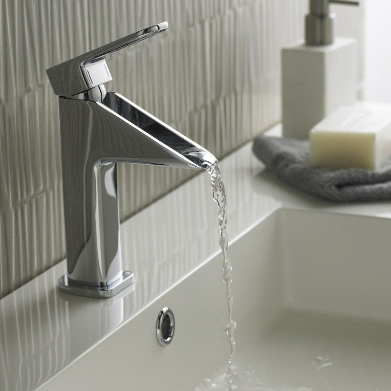 Fabulous Bathroom Faucets Lowes Design Installed On Porcelain