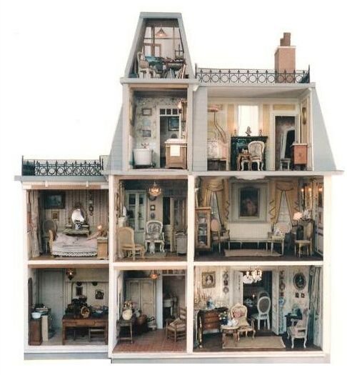 i want to get a dollhouse and make it into a haunted house craft