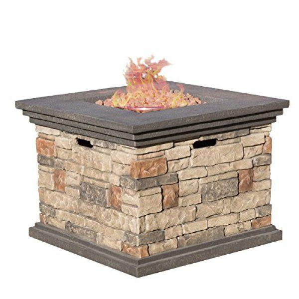 Patio Heater Vs Fire Pit: Compare Crawford Outdoor Square Propane Fire Pit Vs