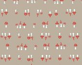 Fox Hollow Organic Cotton- Foxy Too - Monaluna Fabrics: 1/2 Yard Cut. $8.50, via Etsy.