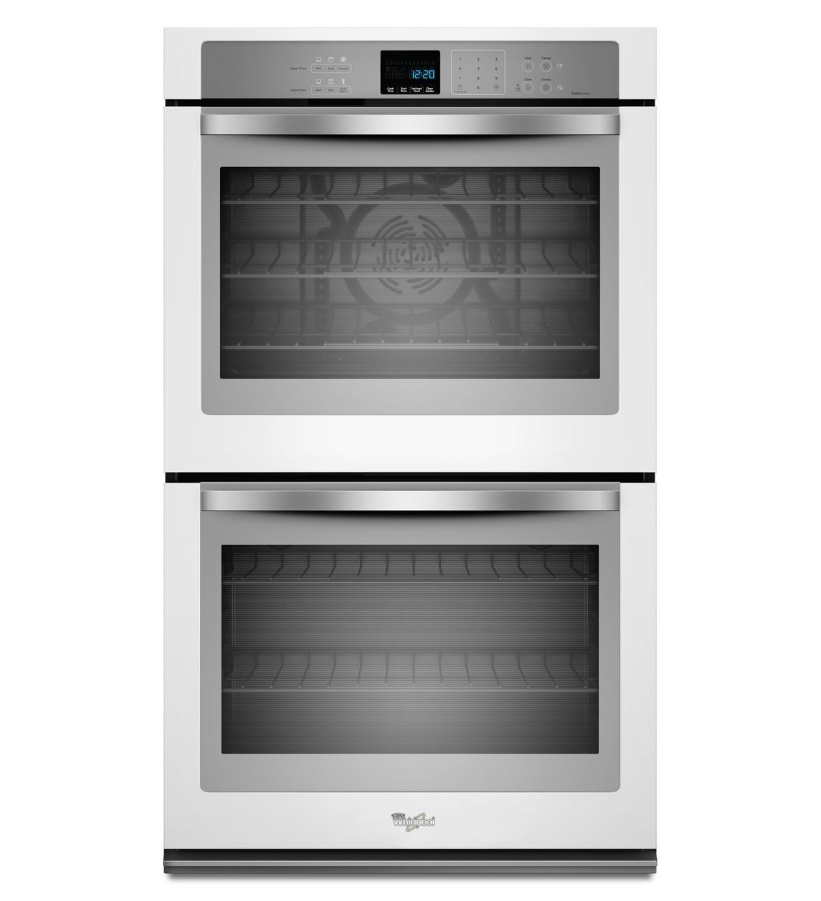 White Ice Collection Whirlpool Gold 10 Cu Ft Double Wall Oven With The